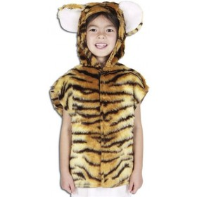 Tiger Fur Tabbard Fancy Dress Costume