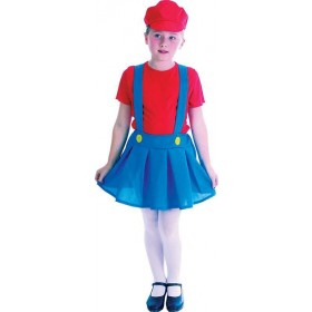 Plumber'S Girl Red Fancy Dress Costume