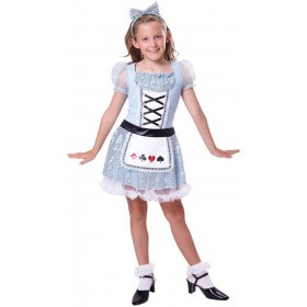 Girls Alice Card Girl Fancy Dress Costume