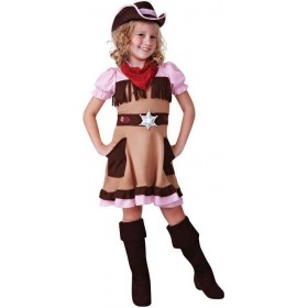 Girls Western Cowgirl Cutie Fancy Dress Costume