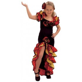 Rumba Girl Fancy Dress Costume