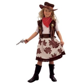 Cowgirl / Cowprint Skirt Fancy Dress Costume