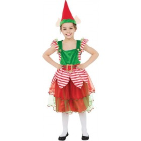 Girls Elf Girl/Helper Christmas Fancy Dress Costume