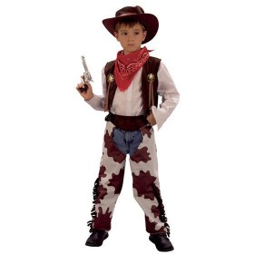 Cowboy .Cowprint Chaps Fancy Dress Costume