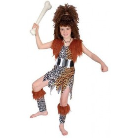 Cavegirl + Wig Fancy Dress Costume