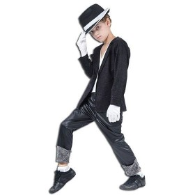 Superstar. Black Jacket/Trousers Fancy Dress Costume