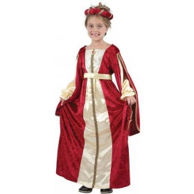 Girls Red Regal Princess Fancy Dress Costume