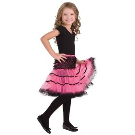 Crinoline Slip. Pink/Black (Fancy Dress)