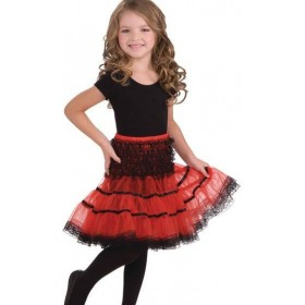 Crinoline Slip. Red/Black (Fancy Dress)