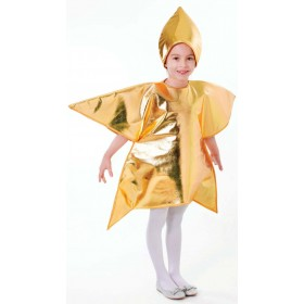Childs Gold Christmas Star Nativity Play Costume