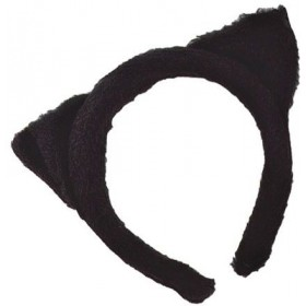 Cat Ears Black Fur (Animals Fancy Dress)