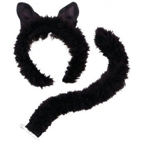 Cat Set/Marabou Trim (Animals , Halloween Disguises)
