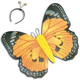 Yellow Butterfly Kit & Antennae (Animals Fancy Dress Disguises)