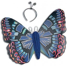 Blue Butterfly Kit & Antennae (Animals Fancy Dress Disguises)