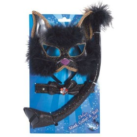 Black Glitter Cat Set (Animals , Halloween Disguises)