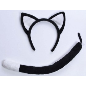 Adult Black (Cat Set Black) Fancy Dress Costume