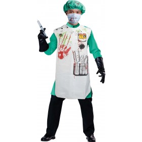 Adult White (Doctor Set Bloody) Fancy Dress Costume