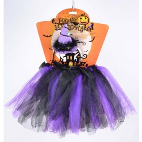 Child Black/Purple (Witch Tutu Purple/Black) Fancy Dress Costume