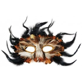 Owl, Feather Fancy Dress Eyemask