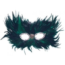 Green/Black Feather (Fancy Dress Eyemasks)