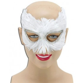 White Feather Eye Mask (Fancy Dress Eyemasks)