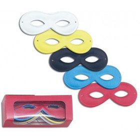 Small Rayon Eye Mask. Asstd (Fancy Dress Eyemasks)