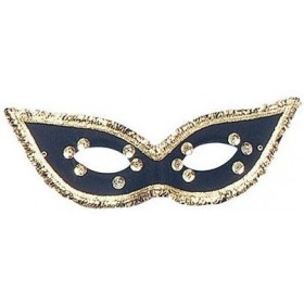 Fiesta Domino Eye Mask. Black (Fancy Dress Eyemasks)