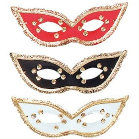 Fiesta Domino Eye Mask.Asstd (Fancy Dress Eyemasks)