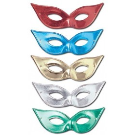 Flyaway Mask Asstd Metallic (Fancy Dress Eyemasks)