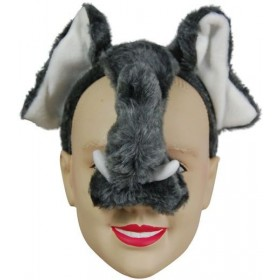 Elephant Mask On H'Band & Sound (Animals Fancy Dress Masks)