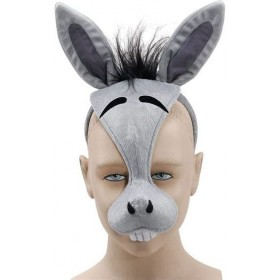 Donkey Mask & Sound (Animals Fancy Dress Masks)