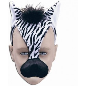Zebra Mask & Sound (Animals Fancy Dress Masks)