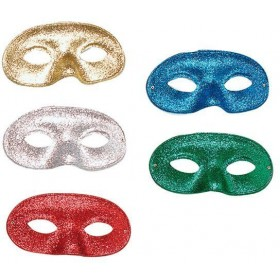 Glitter Domino Eye Mask. Asstd (Fancy Dress Eyemasks)