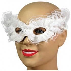 Venetian Carnival Mask. White (Fancy Dress Eyemasks)