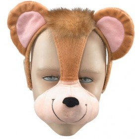 Monkey Mask On Headband +Sound (Animals Fancy Dress Masks)