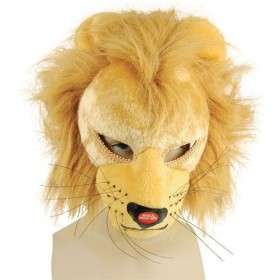 Lion Mask Full Face With Sound (Animals Fancy Dress Masks)