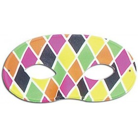 Harlequin Eye Mask. Large, Male (Fancy Dress Eyemasks)