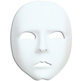Plain White Face Mask (Fancy Dress Eyemasks)