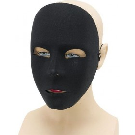 Plain Black Face Mask Fancy Dress Eyemask