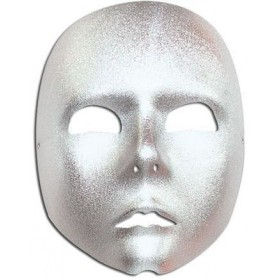 Silver Face Mask (Fancy Dress Eyemasks)