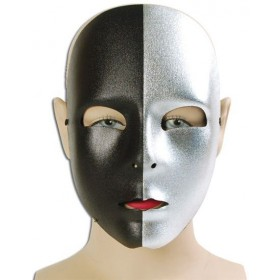 Silver/Black Face Mask (Fancy Dress Eyemasks)