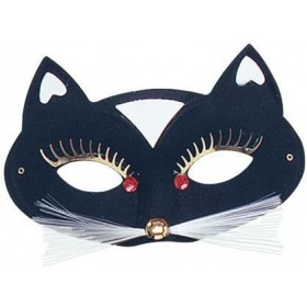 Black Cat Domino Eye Mask (Fancy Dress Eyemasks)