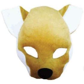 Fox Mask On Headband + Sound (Animals Fancy Dress Masks)