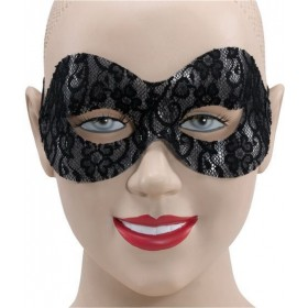 Black Lace Domino Eye Mask Fancy Dress Eyemask