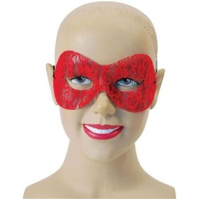 Red Lace Domino Fancy Dress Eyemask