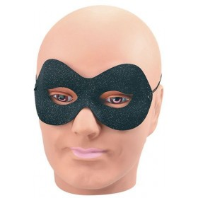Black & Silver Sparkle Domino (Fancy Dress Eyemasks)