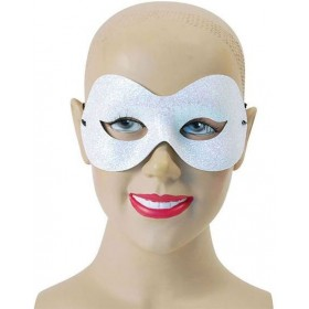 White Sparkle Domino (Fancy Dress Eyemasks)
