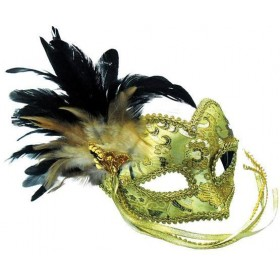 Gold Mask + Braided Eye Pattern (Fancy Dress Eyemasks)