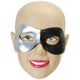 Split Silver/Black (Fancy Dress Eyemasks)
