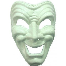 Happy Mask. White Fancy Dress Eyemask